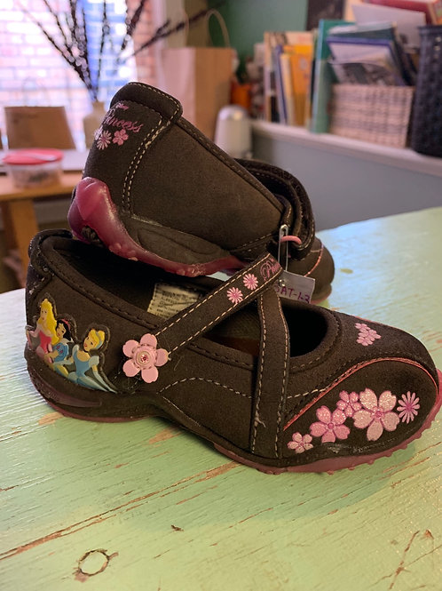 7 Toddler - DISNEY - Light Up Brown Suede Princess Mary Janes