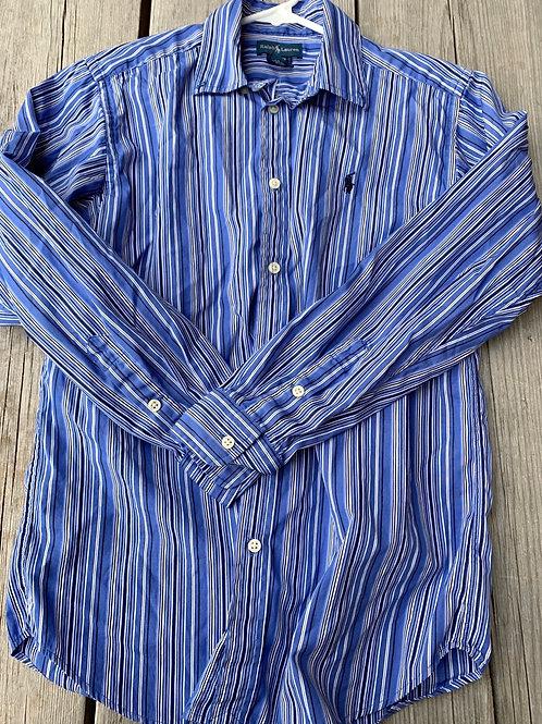 Size 14/16 RALPH LAUREN Blue Shirt
