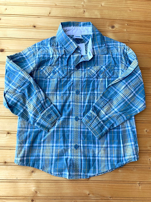 Size 4 Grey and Yellow Plaid Shirt
