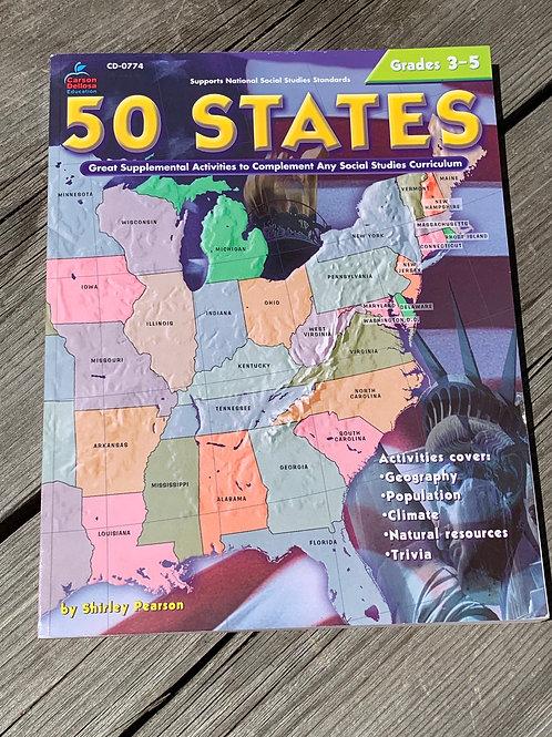 50 STATES Grades 3-5 Workbook