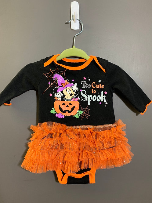 Size 0-3m DISNEY Minnie Mouse Halloween Tutu Too Cute to Spook