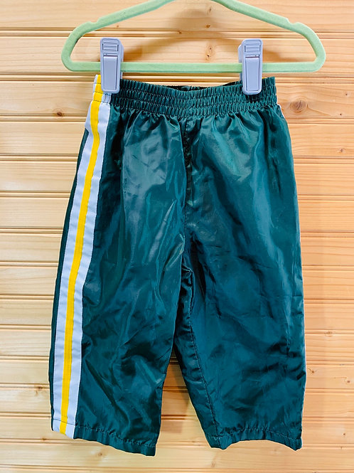 Size 18m FADED GLORY Green and Gold Pants, Used