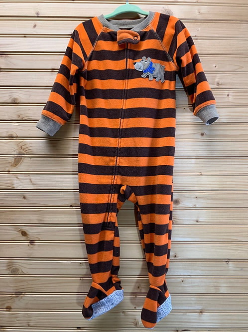 Size 18m CARTER'S Orange and Brown Fleece Pj