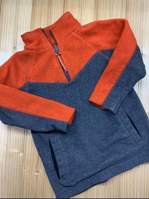 Size S ARIZONA Grey and Orange Fleece