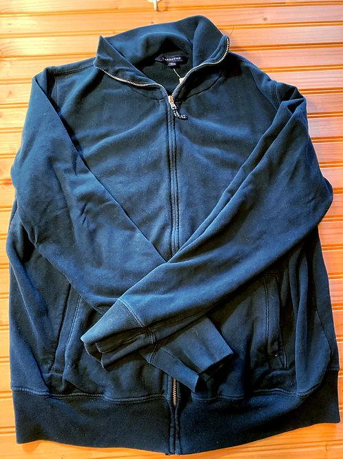 Size 10/12 Kids LANDS' END Black Zip Up