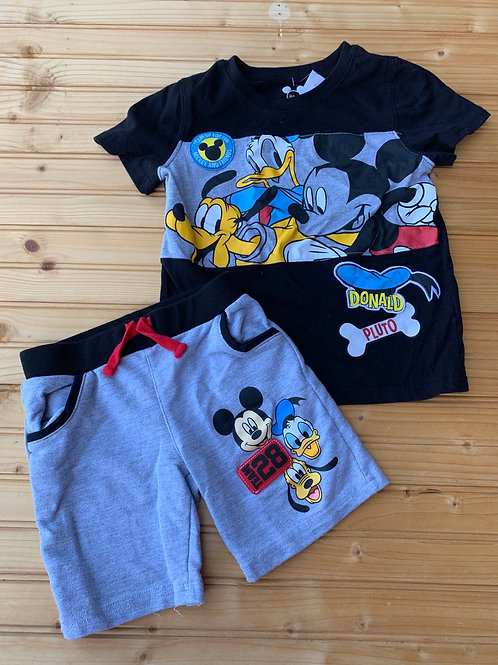 Size 4T DISNEY Mickey and Friends Tee Shirt and Shorts