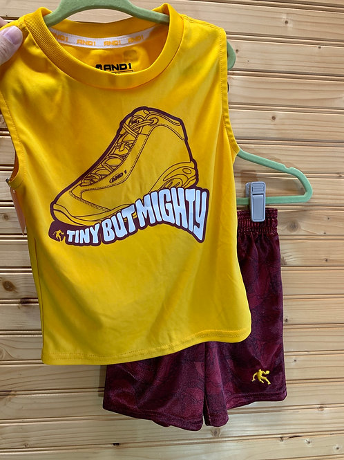 Size 18m 2pc Yellow and Burgundy Sport Outfit