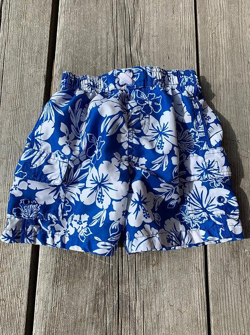 Size 24m Blue Hawaiian Swim Trunks