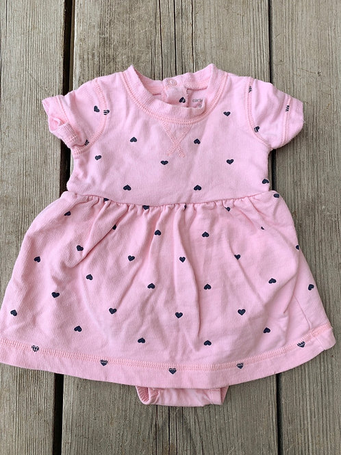 Size 9m CARTER'S Pink Onesie Dress