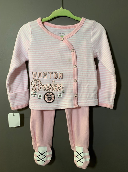 Size 6m NHL BABY Pink Boston Bruins Hockey Fan Outfit
