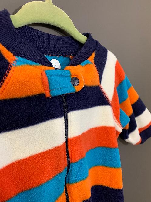 Size 3-6m CHILDREN'S PLACE Striped Fleece Footie Pajama
