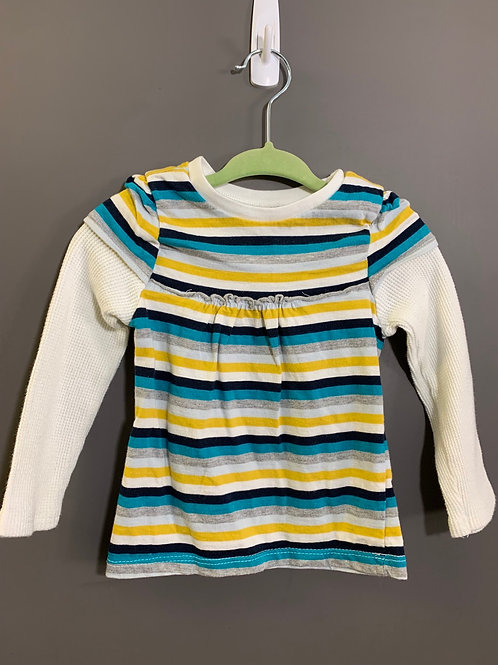 Size 18-24m OLD NAVY Striped Faux Layered Top