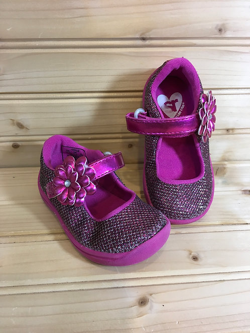 Size 4M Toddler STRIDE RITE Pink Sparkle Mary Janes