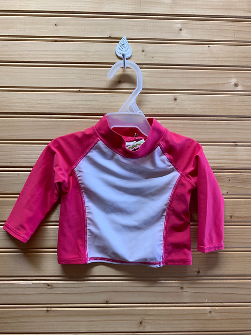 Size 3-6m Pink and White Radh Guard Top, Used