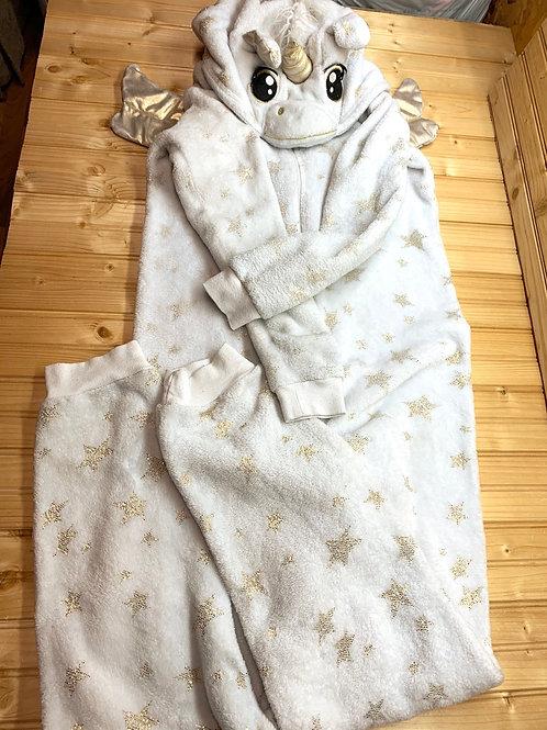 Size S Teen/Adult Fleece Unicorn Pegasus Onesie Costume