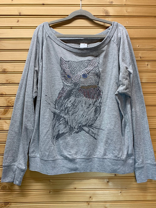 Size M FOREVER 21 Owl Slouchy Shirt, Used