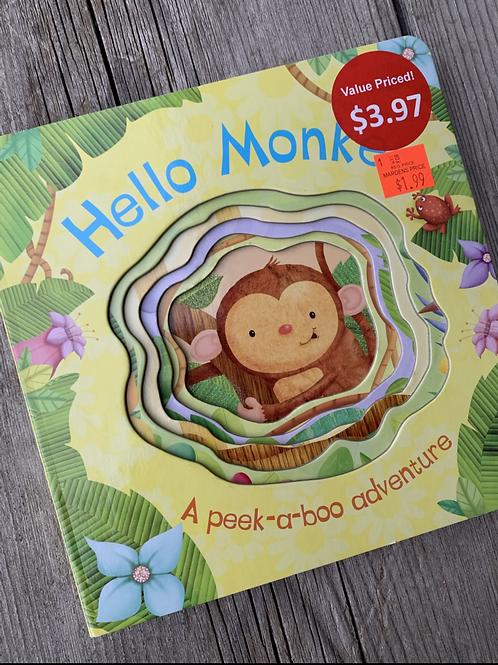 HELLO MONKEY Peek-a-Boo Board