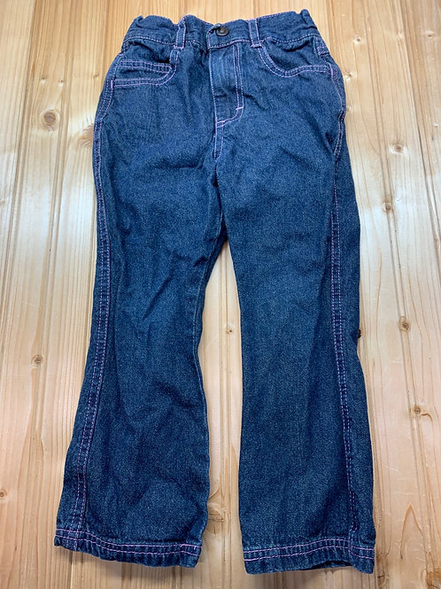 Size 3T HARLEY DAVIDSON Jeans with Pink Stitch