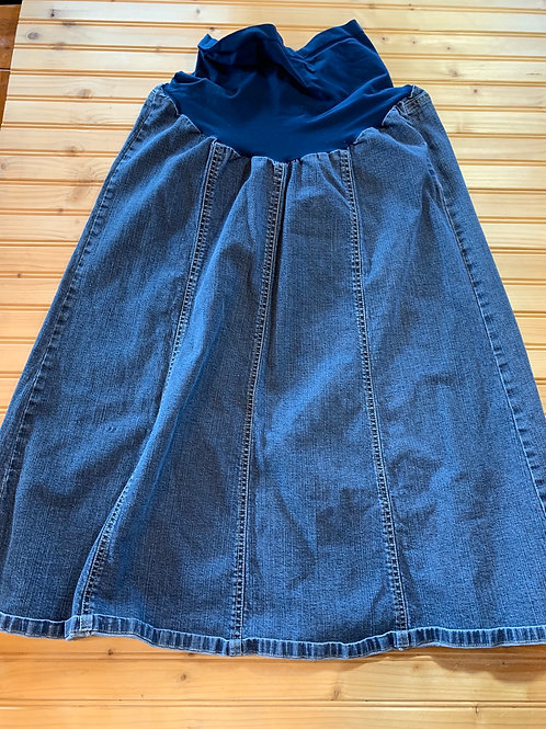 Size XL Maternity Long Jean Skirt