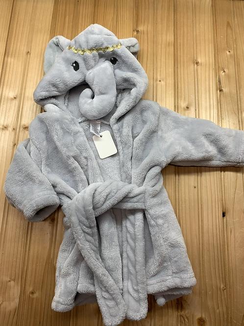 Size 6-9m Soft Fleece Elephant Bathrobe