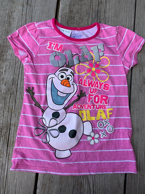 Size 6x DISNEY Glitter Olaf Frozen Shirt