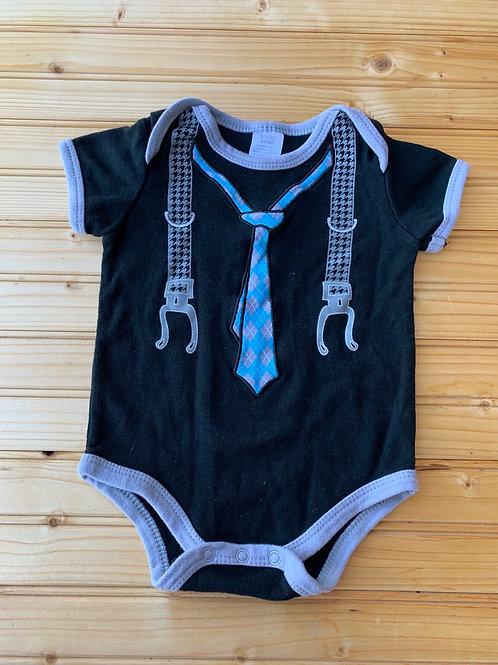 Size 6m Black Tie and Suspender Onesie