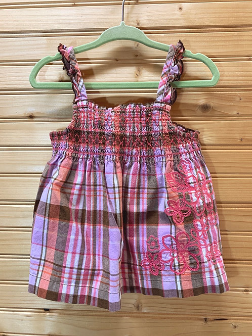 Size 2T OSHKOSH Plaid Top, Used