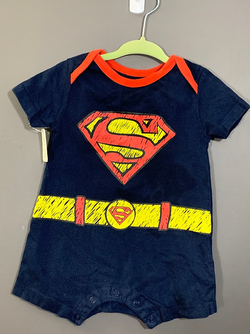 Size 12m SUPERMAN Comic Drawing Style Jumper, Used