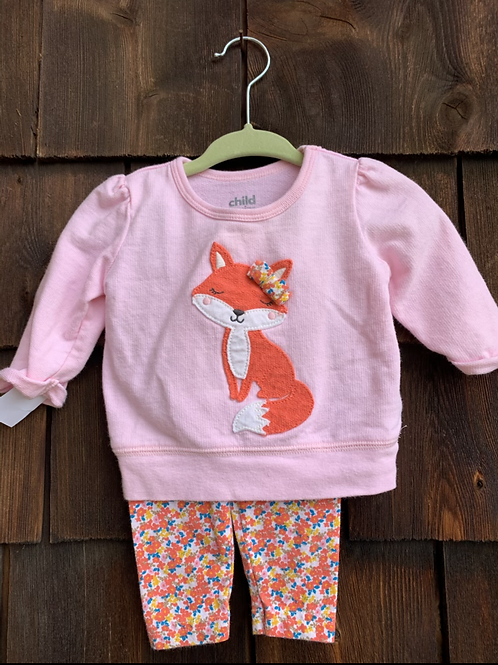 Size 0-3m CARTER'S Pink Fox Outfit