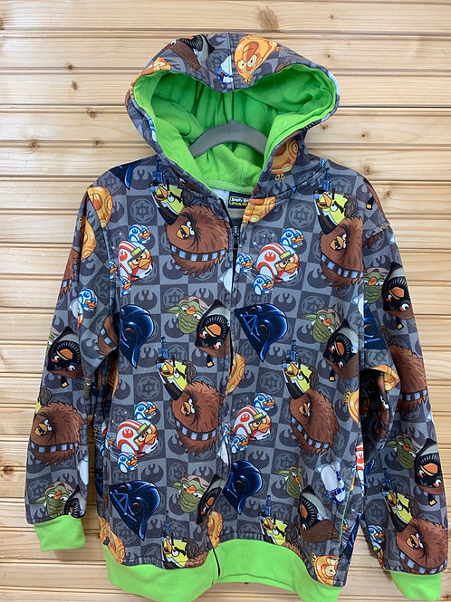 Size 10/12 ANGRY BIRDS Star Wars Hoodie, Used
