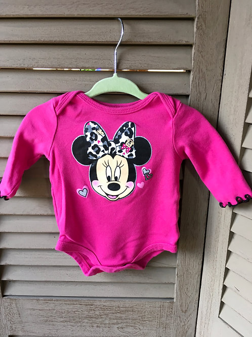 Size 0-3m DISNEY Minnie Mouse Long-sleeve onesies