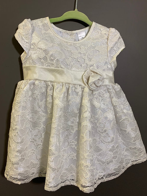 Size 18m GEORGE Lace White and Silver Dress