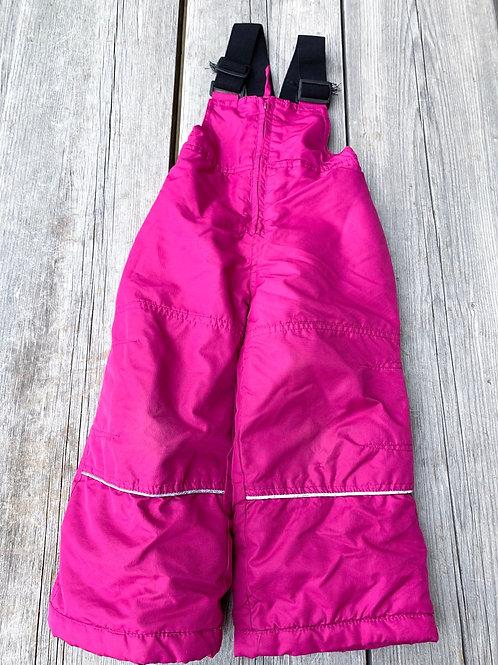 Size 2T RELAX Pink Bib Snow Pants