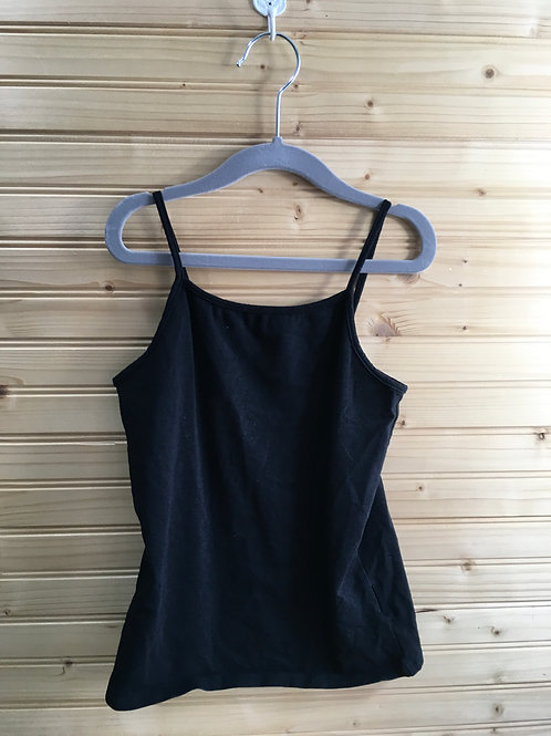 Size 7/8 Girls FADED GLORY Black Stretchy Tank Top