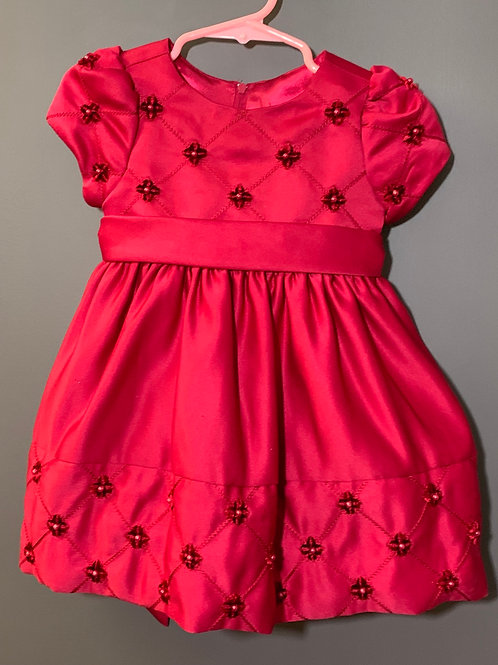 Size 24m AMERICAN PRINCESS Red Quilted Dress with Bloomers