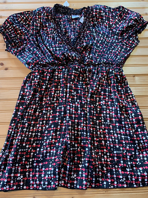 Size XL Maternity Black with White and Pink Top