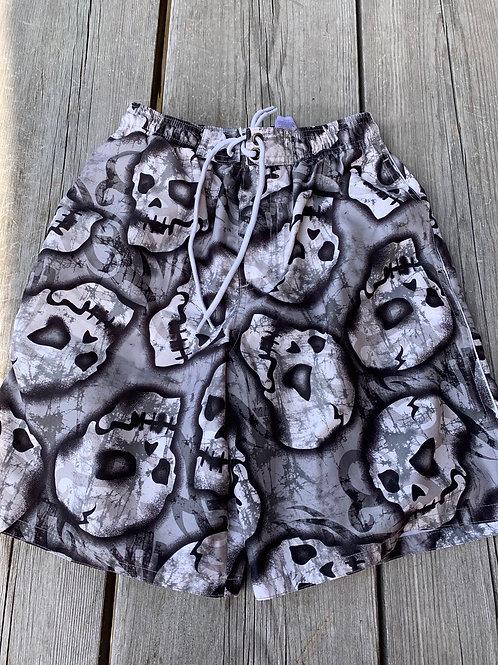 Size 10/12 Kids Skulls Swim Trunks