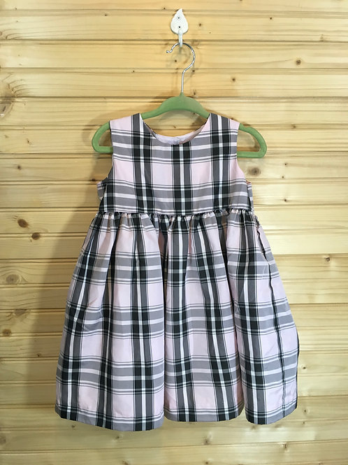 Size 18m GEORGE Pink and Black Plaid Dress