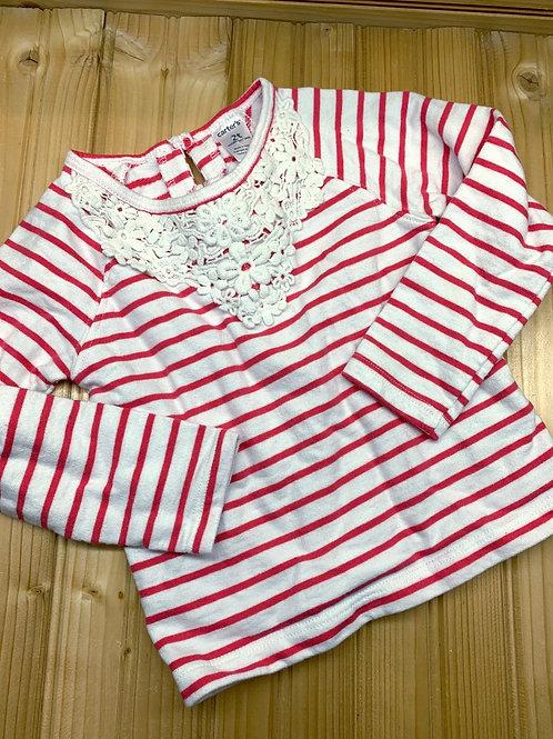 Size 2T CARTER'S Pink Stripe Shirt