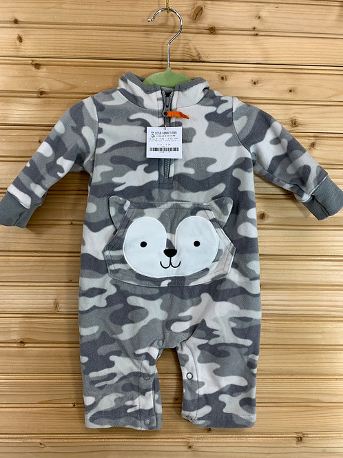 Size 0-3m CHILD OF MINE Grey Husky Fleece, Used