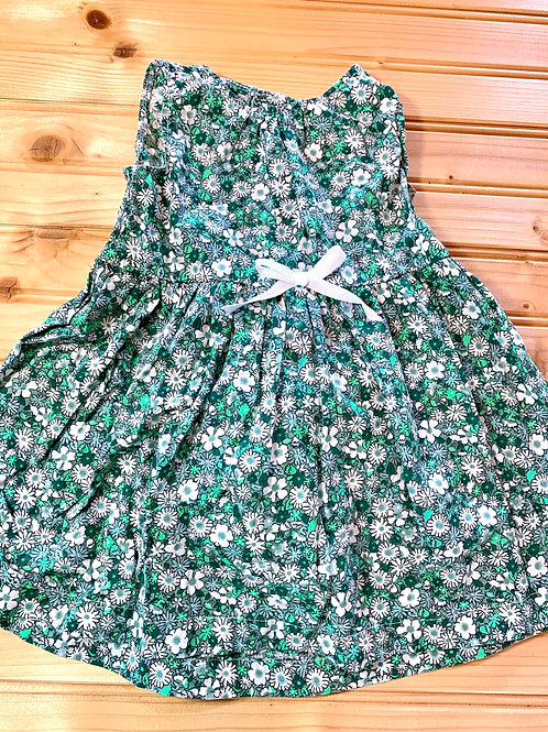 Size 6m Green Floral Dress with Bloomers