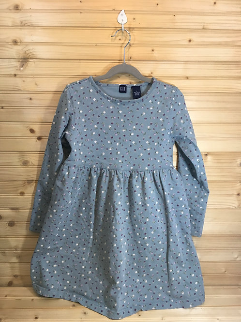 Size L Youth GAP Blue Long Sleeve Dress