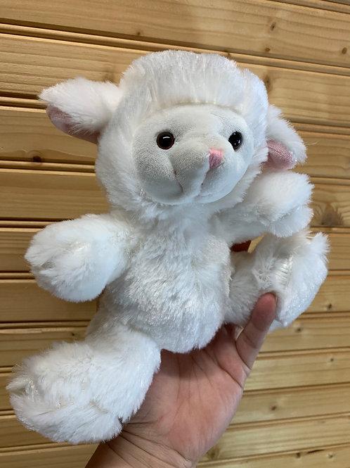 DAN DEE White Lamb Stuffed Animal, Used