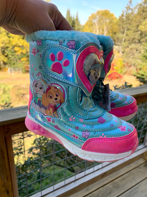 Size 10 Lil' Kids New PAW PATROL Light-up Boots