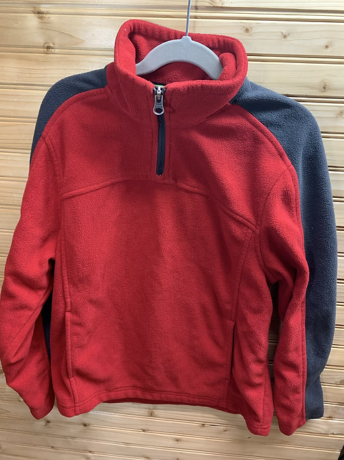 Size 10/12 Red and Grey Fleece Sweater
