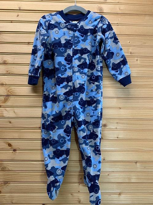 Size 18m Blue Car Camo Fleece PJ, Used
