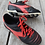 Size 3 Youth ADIDAS Red and Black Soccer Cleats