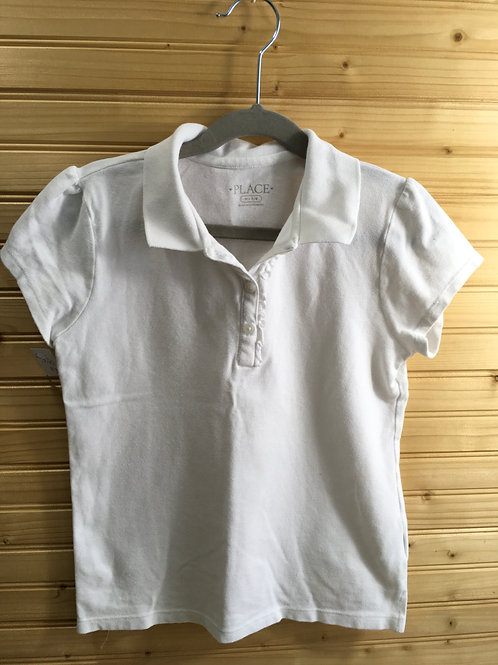 Size 7/8 Girls CHILDREN'S PLACE White Short Sleeve Polo