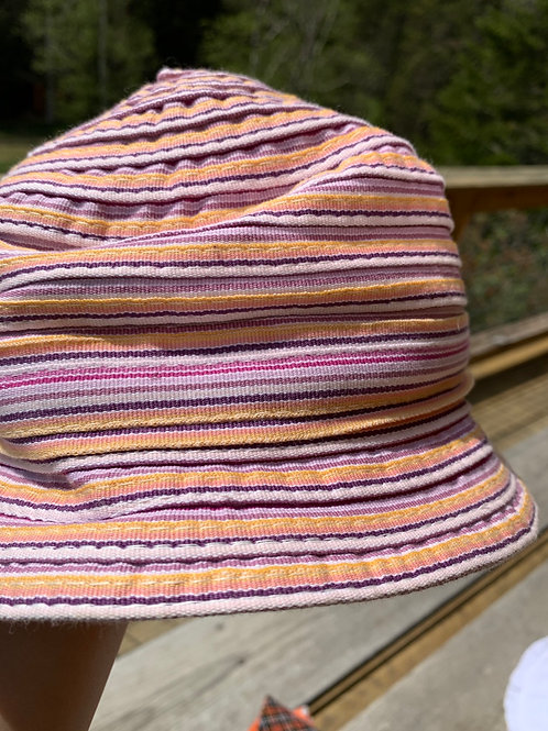 Pink Striated Sun Hat