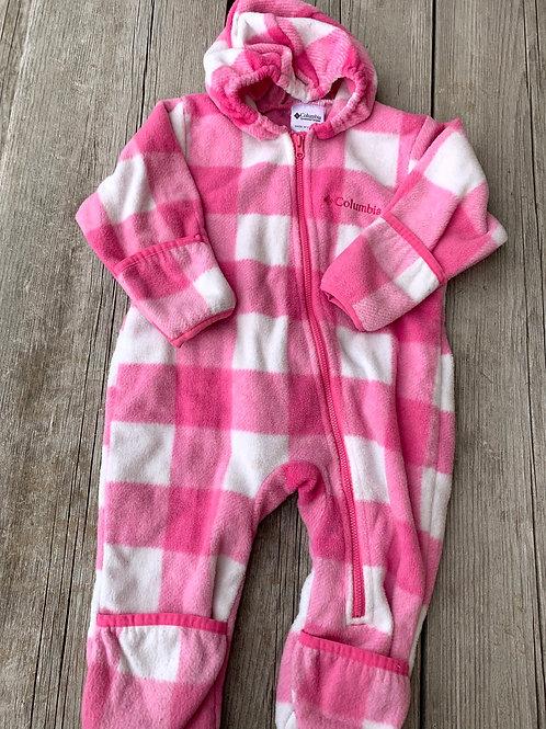 Size 18m COLUMBIA Pink Fleece Bunting